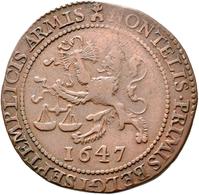 Niederlande: Cu-Rechenpfennig 1647. Auf Die Unterhandlungen Für Den Frieden Von Münster Zwischen Spa - [ 2] 1795-1814 : Protectorat Français & Napoléonien