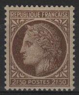 FR 1698 - FRANCE N° 681 Neuf** Cérès De Mazelin - Francia