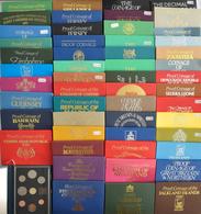 Alle Welt: 53 Sets Des Royal Mint Numismatic Burau. Es Handelt Sich Um Proof Coinage (Kursmünzensätz - Monete