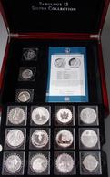 Alle Welt: Edle Holzbox Mit 15 Silbermünzen Aus Der Serie Fabulous 15 - 2011 In Quadrumdosen. Dabei - Monete