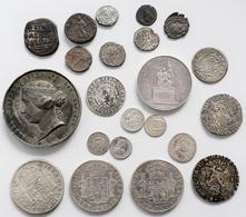 Alle Welt: Kleines Lot Mit Alten Münzen, Dabei Byzanz Und Römer (8 Stück), Spanien Und Mexiko Um 180 - Monete