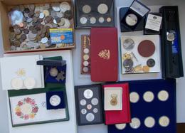 Alle Welt: Lot Diverse Münzen Und Medaillen, Dabei: Diverse KMS Wie British Virgin Islands, Bahamas, - Monete