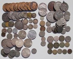 Alle Welt: Klein Aber Fein, Eine Nette Ansammlung An Münzen Aus Aller Welt, überwiegend 19. Jhd. Dab - Monete
