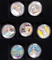 Palau: The New Wonders Of The World, 16 Silbermünzen (925/1000), Davon 14 Aus Palau Mit Den Motiven - Palau