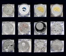 Estland: Lot 12 Diverse Silber Gedenkmünzen Aus Estland 1996-2012. Überwiegend Auf Krooni Lautend. L - Estonia