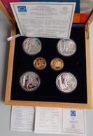 Griechenland: Olympische Spiele In Athen 2004: Set 4 X 10 Euro Silber Gedenkmünzen, Jedes Motiv Ande - Grecia