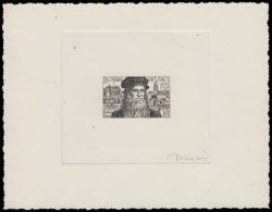 FRANCE Epreuves  929 Epreuve D'artiste En Noir, Signée Decaris: Da Vinci. - Prueba De Artistas