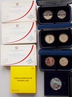 Italien: Kleines Lot Münzen Olymiade Turin / Torino 2006: 3 X 15€ Set (5€ + 10€) Aus Italien Sowie E - Italia
