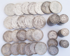 Deutsches Kaiserreich: Kleines Lot 99 Münzen Aus Dem Kaiserreich, Dabei: 12 X 5 Mark, 11 X 3 Mark, 3 - [ 2] 1871-1918: Deutsches Kaiserreich