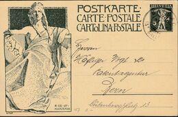 SCHWEIZ  MiNr. P 38 A, Mit Stempel: Balgach 27.X.1909 - Stamped Stationery