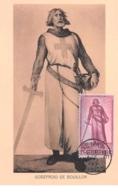 1947 - Carte Maximum - N°151295 - Belgique - Godefroid De Bouillon - Cachet - Genappe - Andere