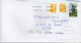 N° 4486 Et 4426 Y. Et T. Oblitération Toshiba TSC 1000 38909A (Migné Auxances Poitiers PIC) Flamme Muette 13/07/2010 - Marcofilia (sobres)