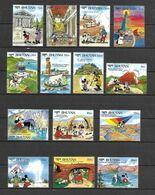 Disney Set Bhutan 1991 Disney Characters Cisiting Wonders Of The World MNH - Disney
