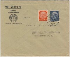 DR - 4+8 Pfg. Hindenburg Brief Danzig 5 - Garmisch 1940 - Deutschland