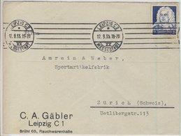 DR - 25 Pfg. 250. Geb. Händel, Brief I.d. SCHWEIZ, Leipzig C2 - Zürich 1935 - Deutschland