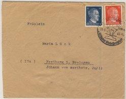 DR - 4+8 Pfg. AH, Brief Kitzbühel - Freiburg 10.3.45 - Ohne Inhalt - Deutschland
