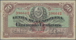 """Argentina / Argentinien: Provincia De Mendoza 50 Centavos 1914 """"Letra De Tesorería - Ley 645"""" Issue, - Argentina"""