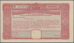Burma / Myanmar / Birma: Set With 10 Pcs. 10 Rupees Post Office 5-Year Cash Certificate, Series 1945 - Myanmar