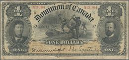 Canada: Dominion Of Canada 1 Dollar 1898, P.24, Still Intact With Several Folds And Lightly Toned Pa - Canada