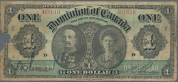 Canada: Dominion Of Canada 1 Dollar 1911, P.27a, Almost Well Worn Condition With Missing Parts At Le - Canada