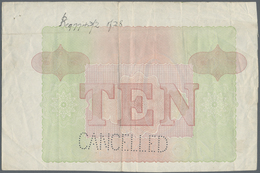 Ceylon: Vignette Proof Print For 10 Rupees P. 24p In Lilac Color, On Watermarked Banknote Paper With - Sri Lanka