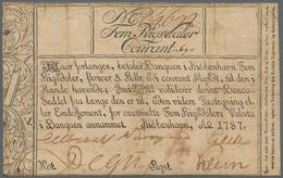 Denmark  / Dänemark: Banquen I Kiöbenhavn 5 Rigsdaler 1787, P.A29, Restored And Backed With Cardboar - Danimarca