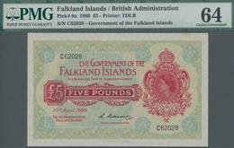 Falkland Islands / Falkland Inseln: The Government Of The Falkland Islands 5 Pounds April 10th 1960, - Falkland Islands