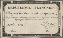 France / Frankreich: République Française Pair Of The 250 Livres Assignat, Dated September 28th 1793 - 1955-1959 Overprinted With ''Nouveaux Francs''