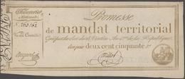 France / Frankreich: Trésorerie Nationale, Promesse De Mandat Territorial Pair With 250 Francs And 5 - 1955-1959 Overprinted With ''Nouveaux Francs''