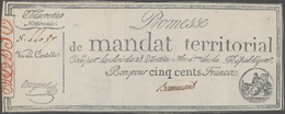 France / Frankreich: Trésorerie Nationale, Promesse De Mandat Territorial Pair Of The 500 Francs Ass - 1955-1959 Overprinted With ''Nouveaux Francs''