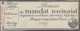 France / Frankreich: Trésorerie Nationale, Promesse De Mandat Territorial Set With 3 Banknotes 500 F - 1955-1959 Overprinted With ''Nouveaux Francs''