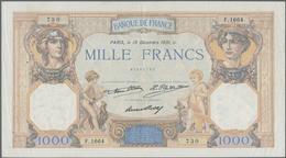 """France / Frankreich: Banque De France Set With 3 Banknotes 1000 Francs 1931, 1932, 1936, P.79b,c """"Cé - 1955-1959 Overprinted With ''Nouveaux Francs''"""