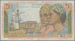 French Antilles / Französische Antillen: Institut D'Émission Des Départements D'Outre-Mer 5 Francs N - Banconote