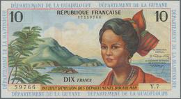 French Antilles / Französische Antillen: Institut D'Émission Des Départements D'Outre-Mer 10 Francs - Banconote