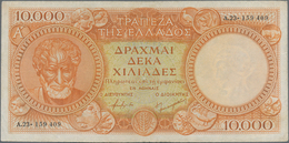Greece / Griechenland: 10.000 Drachmai ND (1945) P. 174a, Used With Some Folds And Creases, No Holes - Grecia