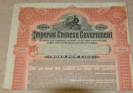 £ 100 - Deutsch Asiatische Bank - Imperial Chinese Gov 5 Hukuang Railways Sinking Fund 1911. - Asien