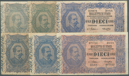 Italy / Italien: Set Of 11x 10 Lire 1888 P. 20, Block Numbers 3988, 2789, 2965, 979, 3576, 2054, 219 - [ 1] …-1946 : Regno