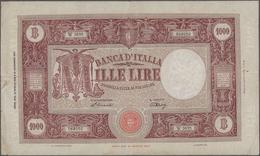 Italy / Italien: Banca D'Italia 1000 Lire 1948 With Signatures: Einaudi & Urbini, P.81a, Still Nice - [ 1] …-1946 : Regno