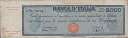 Italy / Italien: Banca D'Italia 5000 Lire 1948 With Signatures: Einaudi & Urbini, P.86a, Small Borde - [ 1] …-1946 : Regno