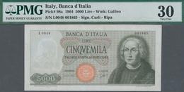 Italy / Italien: Banca D'Italia 5000 Lire 1964 With Signatures: Carli & Ripa, P.98a, Still Great Con - [ 1] …-1946 : Regno