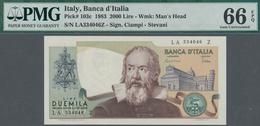 Italy / Italien: Banca D'Italia 2000 Lire 1983 With Signatures: Ciampi & Stevani, P.103c, PMG Graded - [ 1] …-1946 : Regno