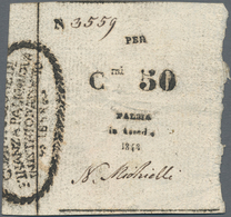 Italy / Italien: Commissione Di Finanza, Palmanova, 50 Centisimi 1848, P.S245 (Richter B48), Soft Ve - [ 1] …-1946 : Regno