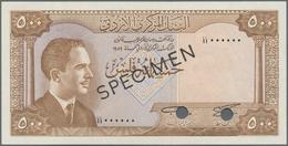 Jordan / Jordanien: Central Bank Of Jordan Set With 500 Fils, 1, 5 And 10 Dinars L.1959 (1965) SPECI - Jordania