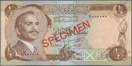 Jordan / Jordanien: Central Bank Of Jordan, Set With 1/2, 1, 5, 10 And 20 Dinars ND(1975-92) SPECIME - Jordania