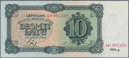"""Latvia / Lettland: Latvijas Valsts Kases 10 Latu 1934 With Signatures Ekis & Skujevics And Series """"A - Latvia"""