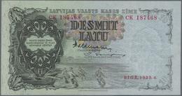Latvia / Lettland: Latvijas Valsts Kases Pair Of The 10 Latu 1939 With Signatures: Valdmanis & Skuje - Latvia