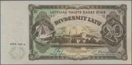 Latvia / Lettland: Latvijas Valsts Kases 20 Latu 1936 With Signatures Ekis & Skujevics, P.30b In Alm - Latvia