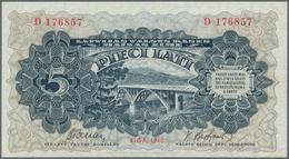 """Latvia / Lettland: Latvijas Valsts Kases 5 Lati 1940, Series """"D"""", Signature Title At Left: """"Finansu - Latvia"""