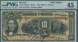 Mexico: El Banco De Londres Y Mexico 10 Pesos ND(1900-13) SPECIMEN, P.S234s1, Highly Rare And Seldom - Mexiko