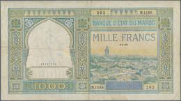 Morocco / Marokko: Banque D'État Du Maroc 1000 Francs 1950, P.16c, Still Intact Without Larger Damag - Marruecos